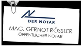 Mag. Gernot Rössler Öffentlicher Notar - Logo